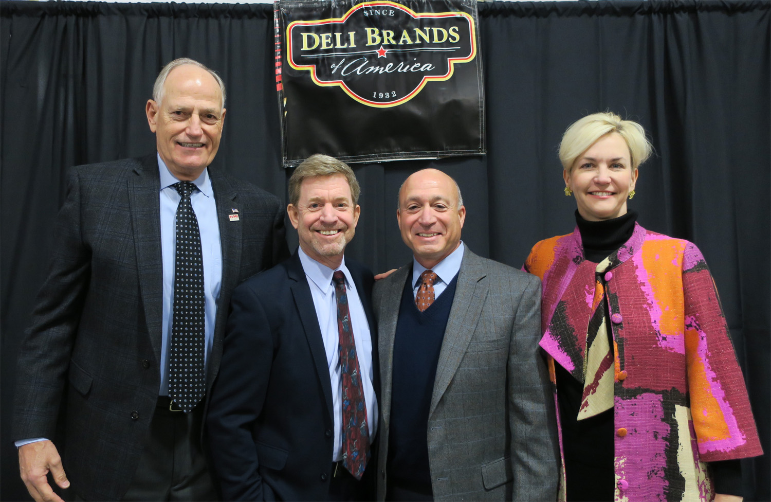 Julie Anna Potts, Barry Carpenter Attend Deli Brands of America Facility Opening.