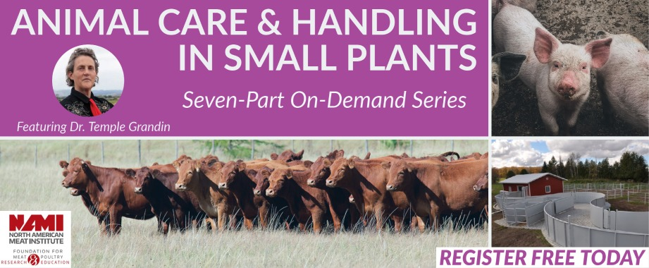 Animal Care and Handling in Small Plants Series, Live Q&A with Temple Grandin